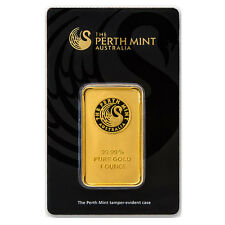 1 oz (Unze) Goldbarren Perth Mint Gold 999,9 Feingold Barren