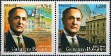 Y&T 4970+4971 timbres dyptique Mexique - France Gilberto Bosques 2015  NEUF **