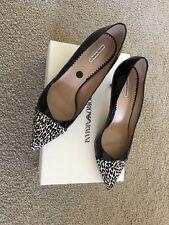 Emporio Armani Leopard And Patent Black Kitten Heels