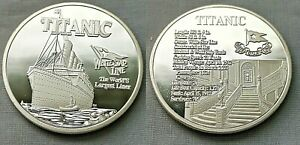 Titanic Silver Stairs Coin Atlantic Ocean Worlds Largest Liner Sea Ship Boat USA
