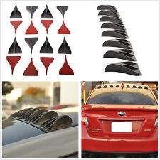 8 Pcs Car SUV Universal Black Vortex Generators Roof Shark Fins Spoiler Wing Kit