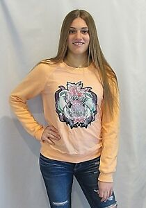 JUICY COUTURE Tropical Parrot Pullover Sweatshirt U Pick Color Size Small NWT