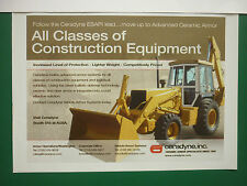 10/05 PUB CERADYNE VEHICLE ARMOR SYSTEMS CONSTRUCTION EQUIPMENT VEHICLE TRUCK AD