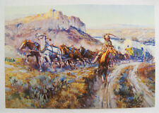 Vintage 1970's Charles M. Russell C.M. Russell The Jerkline Print