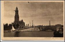 BREMERHAVEN um 1910/20 Hafenamt Schiff Seemöwe Partie Leuchtturm Lighthouse