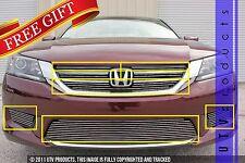 GTG 2013 - 2015 Honda Accord 4dr 10PC Polished Combo Billet Grille Grill Kit