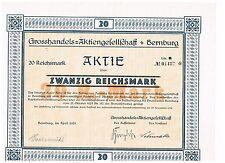 Grosshandels-AG, Bernburg 1925, 20 RM, ungelocht