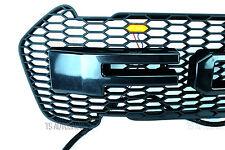 Front Lit LED Grille Grill Black For Ford Ranger Wildtrak Facelift MK2 Px2 16 17