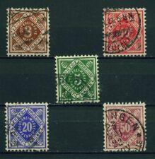 (Bad26a) Württemberg 1906, Michel Nr. 113-116,118, gestempelt, MK 25,70 ?