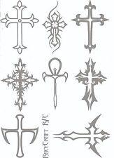 Maschera Di Vernice-Gothic Cross - 1/12 1/10 1/8 1/5 Xray HPI Axial Tamiya Traxxas Zen