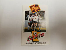 Minnesota Strikers 1986/87 MISL Indoor Soccer Pocket Schedule - SuperAmerica