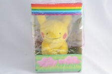 Pokemon Center Original METAMON DITTO PIKACHU Small Plush 2010