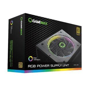 GAMEMAX RGB POWER SUPPLY UNIT 850W RGB-850 80 PLUS GOLD RAINBOW