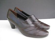 PAUL GREEN Dark Brown Leather Heel Pumps, Size 9 US / 6.5 UK