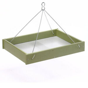 GREEN SOLUTIONS HANGING PLATFORM FEEDER GREEN LARGE