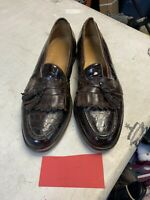Johnston & Murphy Brown Genuine Alligator Dress Shoes, Mens 10.5 M Oxford