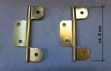 2 Stk. Metall Scharniere, Türnand,  Möbelband, Türscharnier
