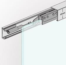 Soft Stop SlimLine Glasschiebetür Glas Schiebetür System Beschlag 180cm AS-180