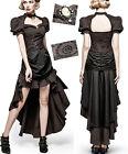 Robe longue steampunk gothique victorienne baroque rayé drapé rouages Punkrave