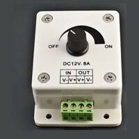12V 8A PIR Sensor LED Strip Light Switch Dimmer-Brightness Controller