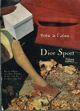 C- Publicité Advertising 1959 Les Bas Collants Dior Sport
