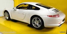 Rastar 1/24 Scale 20166 Porsche 911 Carrera S White Diecast model car