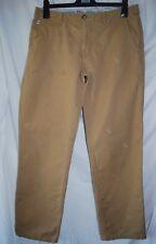 "Duffer St George Men Jeans 30"" Beige Chino Feather Pattern 32L"