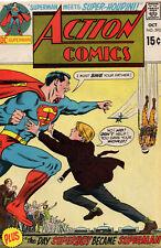 Superman Action Comics 393 DC 1970 VG Chain Bondage Skydiving No Parachute