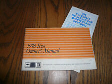 1976 Chevrolet Vega Owner's Manual Vintage - Glove Box with Maintenance Schedule