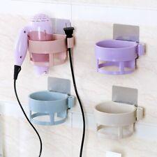 Dryer Hair Storage Holder Wall Rack Bathroom Stand Organizer Mount Shelf Mounted