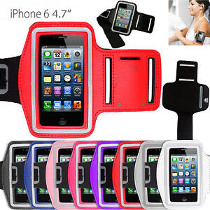 """SPORTS RUNNING JOGGING GYM ARM BAND CASES COVER HOLDER POUCH FOR iPHONE 6 4.7"""""""