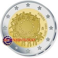 2 Euro Commémorative Espagne 2015 - Drapeau Européen