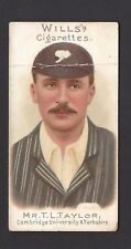 WILLS - CRICKETERS, 1901 (VIGNETTES) - #50 MR T L TAYLOR, YORKSHIRE