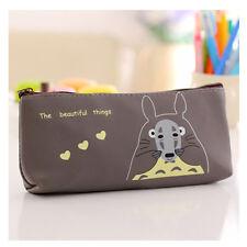 Cartoon Totoro Pen Holder Pencil Case Waterproof Pouch Bag Students Makeup Bags