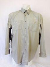 Dodge Ram Men's XL Long Sleeved Khaki Shirt Embroidered Button Down Button Front