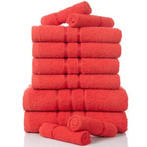 TOWELS 10PC BALE SET FACE HAND BATH BATHROOM LUXURY TOWELS COMBED COTTON SET
