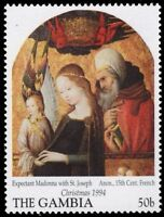 "GAMBIA 1591 (SG1910) - Christmas ""Expectant Madonna with St. Joseph"" (pf40861)"