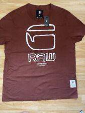 G Star New Mens Regular Fit Burgundy XXL T Shirt RRP £25
