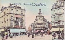 Belgium Bruxelles - Carrefour de la Place de Luovain Thesun of Canada postcard