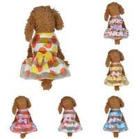 Small Pet Dog Dress Cat Puppy Clothes Summer Apparels Princess Costumes Various