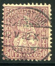 SCHWEIZ 1881 43 gestempelt geprüft FRANZ 450€(Z2240