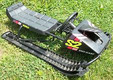 "Norca Sno-Kart S2 Steerable Black Sled RARE 40"" x 20"""