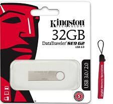 Kingston 32GB DataTraveler SE9 G2 32G USB 3.0 metal Pen Drive DTSE9G2/32GB +Lany