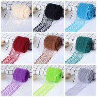10M Spitze Polyester Spitzenband Lace elastisch Farben Spitzenborte goodeals