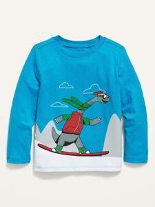 Old Navy Toddler Boy Girl ~ Dinosaur ~ Long Sleeve Tee ~ Size 5T ~ Christmas