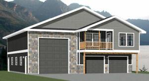 44x48 Apartment with 2-Car 1-RV Garage - PDF FloorPlan - 1,645 sqft - Model 5N