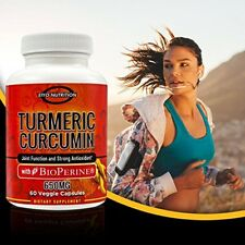 Turmeric Curcumin with BioPerine - 650 mg,Turmeric Pill, Curcumin Supplements