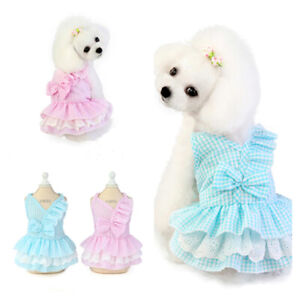 Pet Small Dog Princess Dress Vest T Shirt Lace Skirt Puppy Dog Clothes Apparel