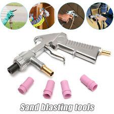 Sand Blasting Gun Sandblaster + 4Pcs Ceramic Nozzles + Extra Iron Nozzle Tip Set