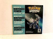 Nintendo Power Pokemon Diamond DS 63076A Advert INSERT ONLY Authentic